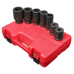 "Sunex 7 Piece 3/4"" Drive 6 Point Metric Deep Truck Service Impact Socket Set"