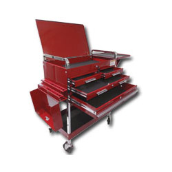 Sunex Deluxe Service Cart Red