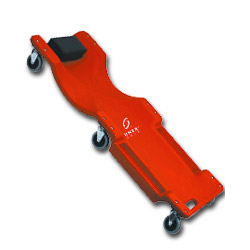 "Sunex 40"" 6 Wheel Plastic Red Creeper"