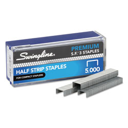 Swingline Speedpoint S.F.® 3 Premium Chisel Point Half Strip Staples, 105/Strip, 5,000/Box