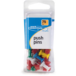 Swingline Push Pins, 75/CD, AST