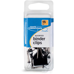 Swingline Binder Clips, Scratch-Resistant, 15/pack, Assorted Sizes