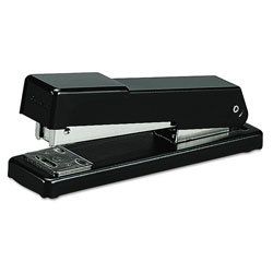Swingline Compact Half Strip Metal Desk Stapler, Black