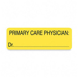 "Tabbies Primary Care Phys. Label, 3""x1 250/RL, Yellow"