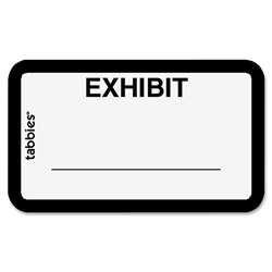 "Tabbies Legal Exhibit Labels, ""Exhibit"", 1 5/8""x1"", White"