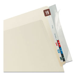 Tabbies Wrap-Around Index Tabs, Clear