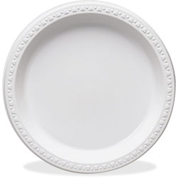 "Tablemate Disposable 10.25"" Paper Plates, White, Pack of 125"