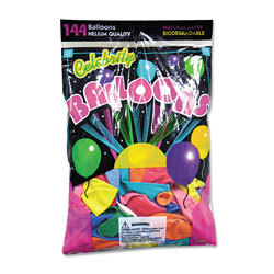 Tablemate 1200 Helium Quality Assorted Latex Balloons in Solid Colors, 12""