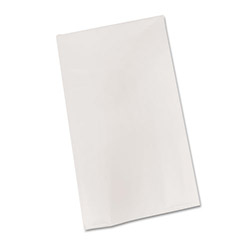 "Tablemate Bio-Degradable Plastic Table Cover, 54"" x 108"", White"