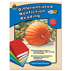 Teacher Created Resources Differentiated Nonfiction Reading, Grade 2, 96 Pages