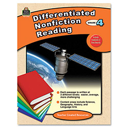 Teacher Created Resources Differentiated Nonfiction Reading, Grade 4, 96 Pages