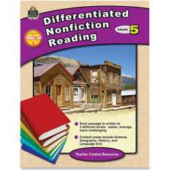 Teacher Created Resources Differentiated Nonfiction Reading, Grade 5, 96 Pages