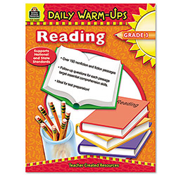 Teacher Created Resources Daily Warm-Ups Book, Reading, Grade 3