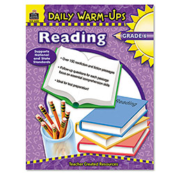 Teacher Created Resources Daily Warm-Ups Book, Reading, Grade 6