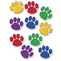 "Teacher Created Resources Assorted Paw Prints Accents, 7"" x 8 1/2"""
