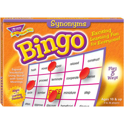Trend Enterprises Synonyms Bingo Game, 3-36 Players, 36 Cards/Mats