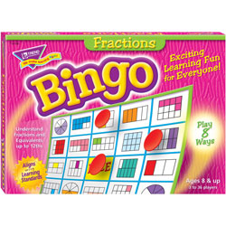 Trend Enterprises Fractions Bingo Game, 3-36 Players, 36 Cards/Mats