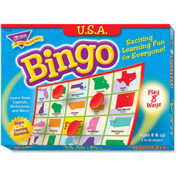 Trend Enterprises USA Bingo Game, 3-36 Players, 36 Cards/Mats
