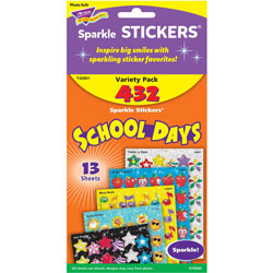 Trend Enterprises Acid-free and Nontoxic School Days Stickers, 432 Stickers