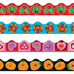 Trend Enterprises Holiday Themed Trimmer, 12 Panels, 39'' Long