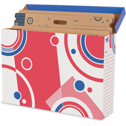 Trend Enterprises File 'n Save System Bulletin Board Storage Box, Bulletin Board Box Folders