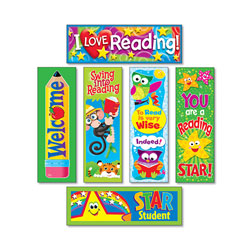 Trend Enterprises Bookmark Combo Packs, Reading Fun Variety Pack #2, 2w x 6h, 216/Pack