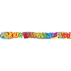 Trend Enterprises Quotable Expressions Wall Banner, You Are Responsible For You, 10 Ft