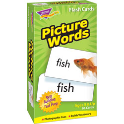 "Trend Enterprises Flash Cards, Skill Drill, 3""x6"", Picture Word Association"