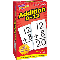 "Trend Enterprises Math Flash Cards, Addition, 0 To 12, 3""x5-7/8"""