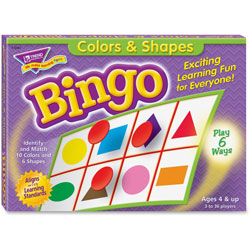 Trend Enterprises Colors And Shapes Bingo, for Ages 3 And Up
