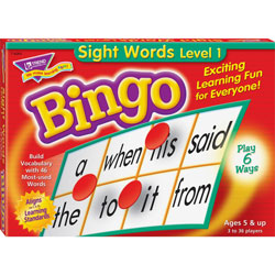 Trend Enterprises Games, Bingo/Sightwords, 46 Practice Words