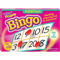 Trend Enterprises Addition Bingo Game, Includes 36 Playing Cards/over 200 Chips