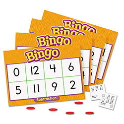 Trend Enterprises Subtraction Bingo Game, Incld. 36 Playing Cards/over 200Chips