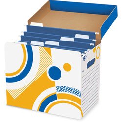"Trend Enterprises Folder/File Storage Box, Letter Sizes, 12-1/4""x8""x10-1/4"""