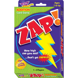 Trend Enterprises Zap Math Card Game for Ages 7 and Up
