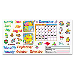 "Trend Enterprises Monthly Calendar (with Cling) Bulletin Board Set, 22"" x 17"""