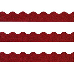 Trend Enterprises Terrific Trimmers Sparkle Glitter Bulletin Board Trim, Red