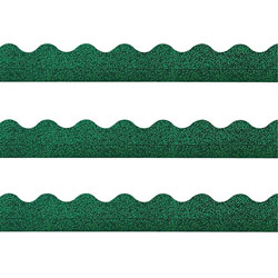 "Trend Enterprises Sparkle Trimmers, 2-1/4""x32-1/2', Green Sparkle"