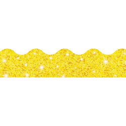 "Trend Enterprises Sparkle Trimmers, 2-1/4""x32-1/2', Yellow Sparkle"