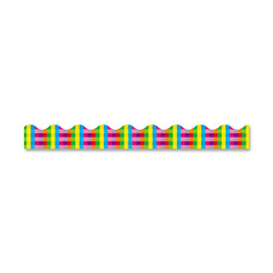 "Trend Enterprises Bulletin Board Border, Rainbow Plaid, 2-1/4""x39"""
