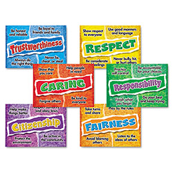 Trend Enterprises Poster Combo Pack, Character Choices, Pre-K-9, 6 Posters, 13 1/2 x 19.