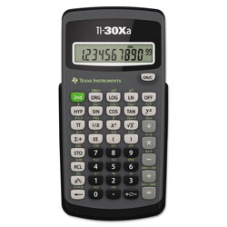 Texas Instruments TI30XA Scientific Calculator, Battery Operated, 10 Digit Display, Hard Case