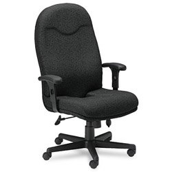 Mayline Comfort Series Executive High-Back Swivel/Tilt Chair, Black Fabric