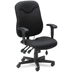 Mayline Comfort Series Executive Posture Swivel/Tilt Chair, Black Fabric