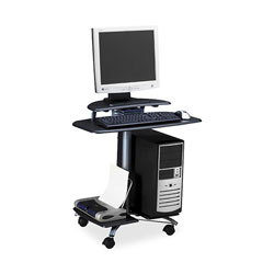 Mayline FPD Mobile Computer Workstation, Charcoal Gray