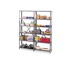 "Tennsco Industrial Steel Shelves, 48"" x 24"", Gray"