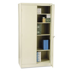 "Tennsco Ready to Assemble Storage Cabinet, 72""-High, 36"" x 18"", Putty"
