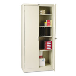 "Tennsco Locking Storage Cabinet, 78""-High, 36"" x 18"", Putty"