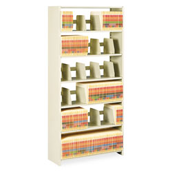 "Tennsco Snap-Together Open Shelving Kit, 36"" x 12"", 6 Shelves, Beige"