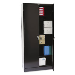 "Tennsco Locking Storage Cabinet, 78""-High, 36"" x 18"", Black"